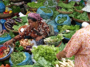 Cambodian Market Stall - Vegetables