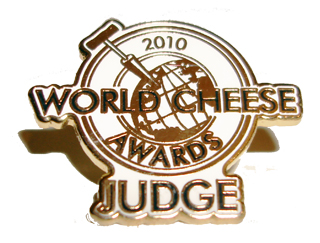 Badge awarded to judges at the 2010 World Cheese Awards