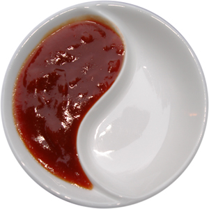 Sweet and Sour Sauce in a Yin and Yang bowl