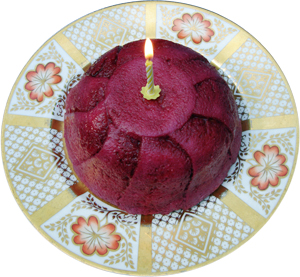 Summer Pudding with Candle